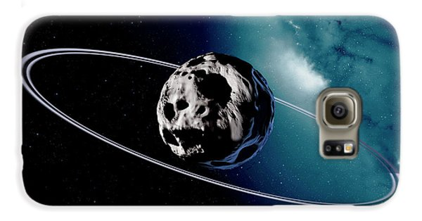 Chariklo Minor Planet And Rings Galaxy S6 Case by Detlev Van Ravenswaay