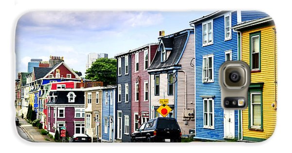 Town Galaxy S6 Case - Colorful Houses In St. John's by Elena Elisseeva