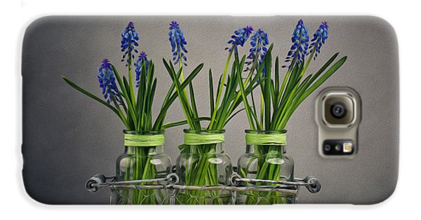 Hyacinth Still Life Galaxy S6 Case by Nailia Schwarz