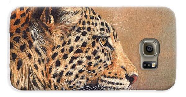 Leopard Galaxy S6 Case by David Stribbling