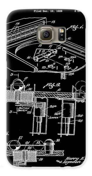 Pinball Machine Patent 1939 - Black Galaxy S6 Case by Stephen Younts