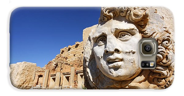 Sculpted Medusa Head At The Forum Of Severus At Leptis Magna In Libya Galaxy S6 Case
