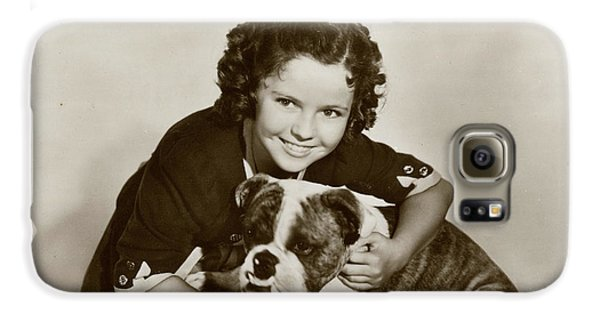 Shirley Temple Galaxy S6 Case - Shirley Temple (1928 -2014), American by Mary Evans Picture Library