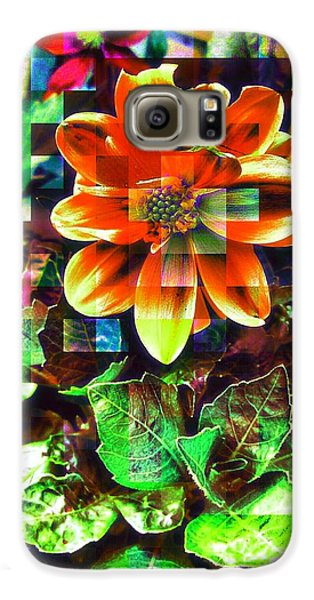 Edit Galaxy S6 Case - Abstract Flowers by Chris Drake