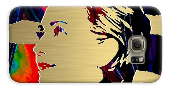 Hillary Clinton Gold Series Galaxy S6 Case by Marvin Blaine