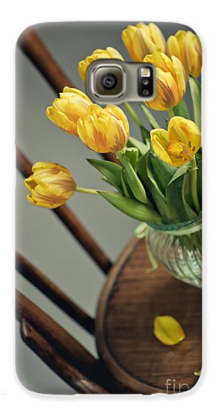 Tulip Galaxy S6 Case - Still Life With Yellow Tulips by Nailia Schwarz