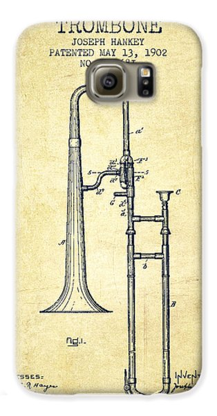 Trombone Patent From 1902 - Vintage Galaxy S6 Case