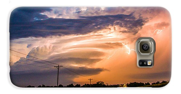 Nebraskasc Galaxy S6 Case - Wicked Good Nebraska Supercell by NebraskaSC