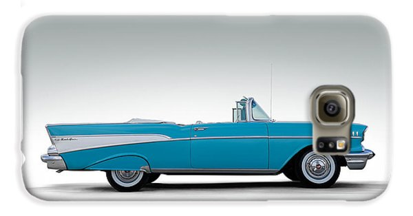 Automobile Galaxy S6 Case - 57 Chevy Convertible by Douglas Pittman