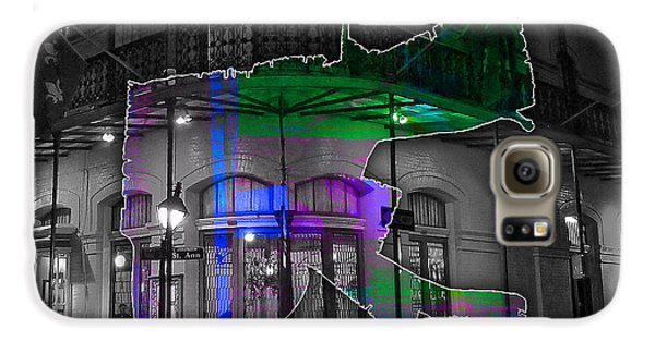 New Orleans Map Watercolor Galaxy S6 Case by Marvin Blaine