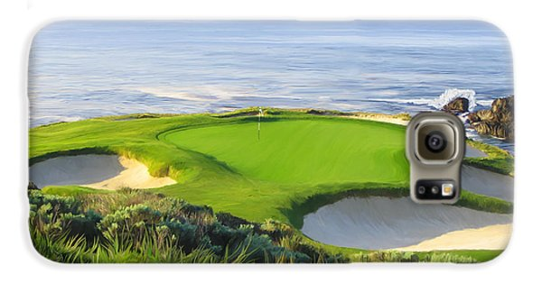Golf Galaxy S6 Case - 7th Hole At Pebble Beach by Tim Gilliland
