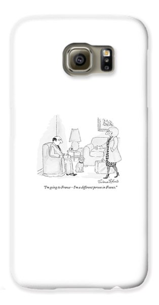 Doctor Galaxy S6 Case - I'm Going To France - I'm A Different Person by Victoria Roberts