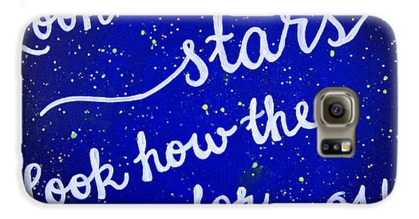 8x10 Look At The Stars Galaxy S6 Case