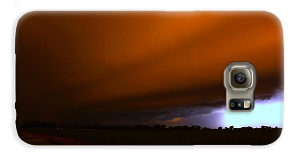 Nebraskasc Galaxy S6 Case - Late Night Nebraska Shelf Cloud by NebraskaSC