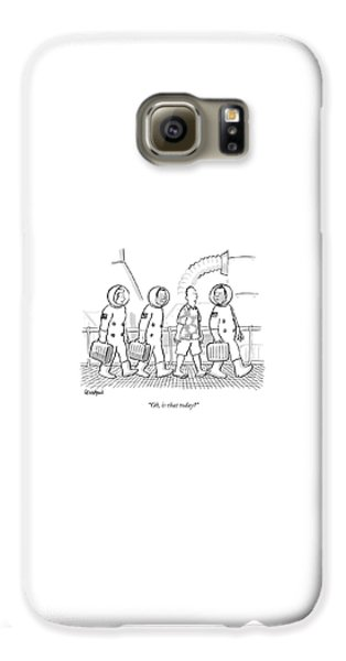 Space Ships Galaxy S6 Case - Oh, Is That Today? by Robert Leighton