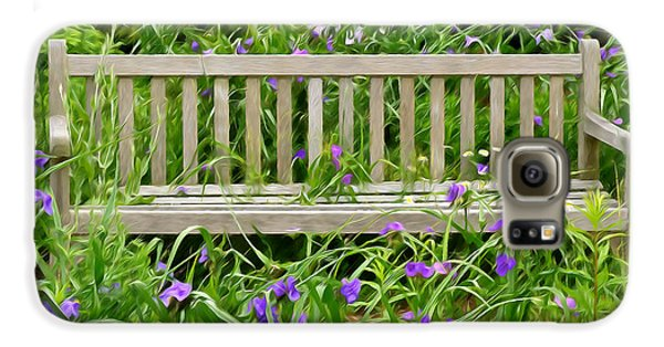 A Bench For The Flowers Galaxy S6 Case