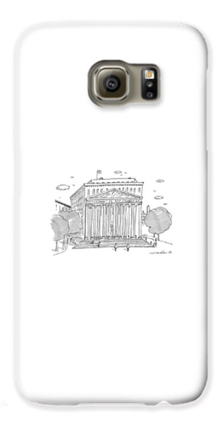 Washington D.c Galaxy S6 Case - A Building In Washington Dc Is Shown by Michael Crawford