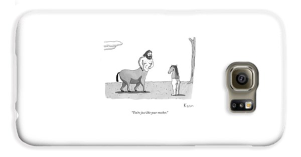 A Centaur Angrily Talks To A Creature Who Galaxy S6 Case by Zachary Kanin