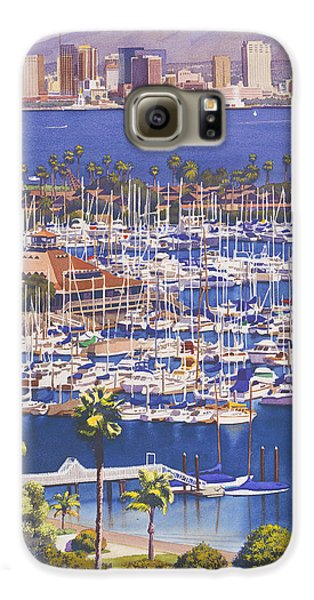 City Scenes Galaxy S6 Case - A Clear Day In San Diego by Mary Helmreich