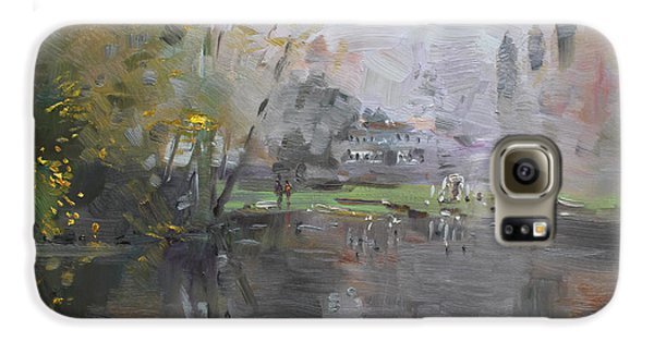 Georgetown Galaxy S6 Case - A Foggy Fall Day By The Pond  by Ylli Haruni