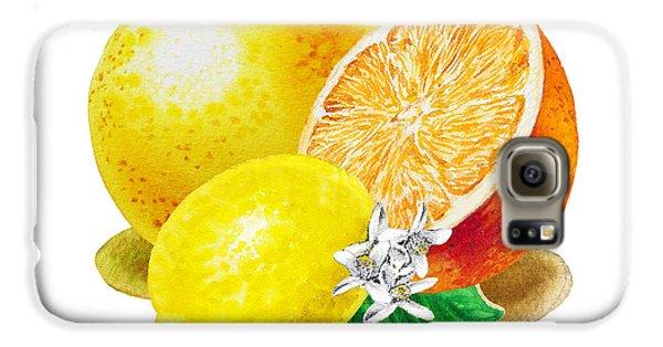 A Happy Citrus Bunch Grapefruit Lemon Orange Galaxy S6 Case