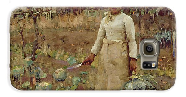 A Hinds Daughter, 1883 Oil On Canvas Galaxy S6 Case by Sir James Guthrie