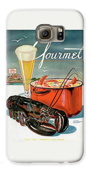 Rolling Stone Magazine Galaxy S6 Case - A Lobster And A Lobster Pot With Beer by Henry Stahlhut