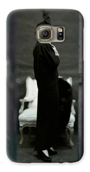 A Model Wearing An Adele Simpsons Ensemble Galaxy S6 Case by John Rawlings