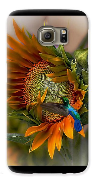 Sunflower Galaxy S6 Case - A Moment In Time by John  Kolenberg