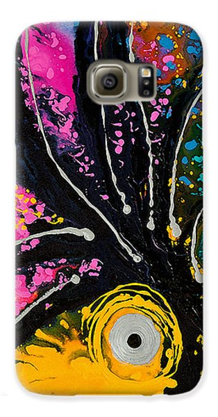A Rare Bird - Tropical Parrot Art By Sharon Cummings Galaxy S6 Case by Sharon Cummings