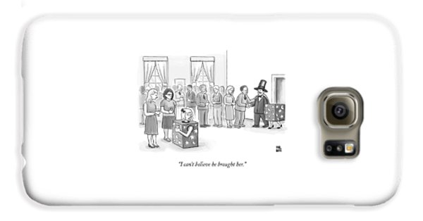 A Sawed-in-half Magician's Assistant Scowls Galaxy S6 Case by Paul Noth