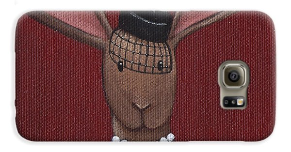 A Sophisticated Bunny Galaxy S6 Case by Christy Beckwith