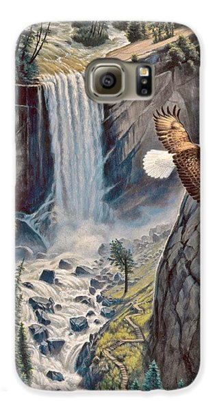 Eagle Galaxy S6 Case - Above The Falls - Vernal Falls by Paul Krapf