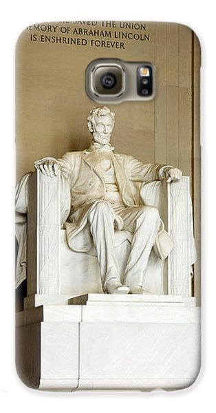 Abraham Lincolns Statue In A Memorial Galaxy S6 Case by Panoramic Images