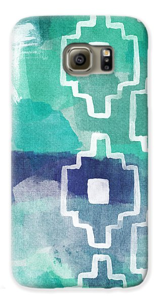 Abstract Aztec- Contemporary Abstract Painting Galaxy S6 Case