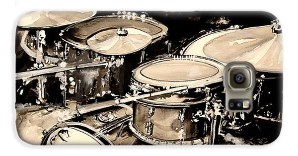 Drum Galaxy S6 Case - Abstract Drum Set by J Vincent Scarpace