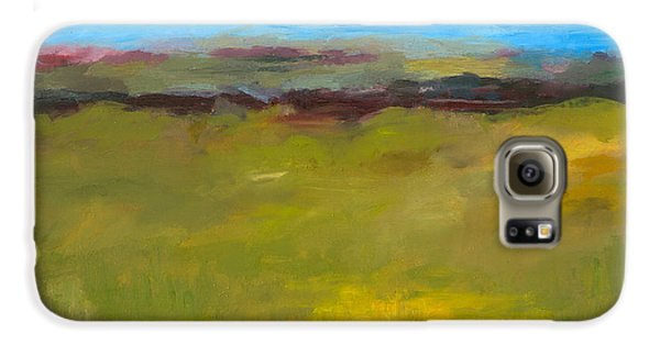 Abstract Landscape - The Highway Series Galaxy S6 Case by Michelle Calkins