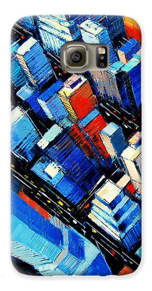 Abstract New York Sky View Galaxy S6 Case