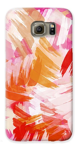 Abstract Paint Pattern Galaxy S6 Case by Christina Rollo