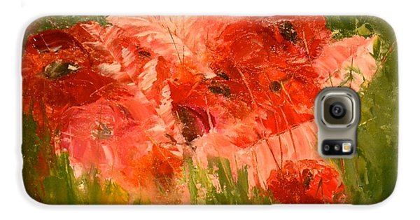 Abstract Poppies Galaxy S6 Case
