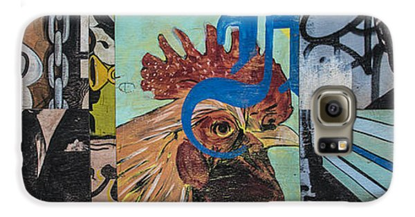 Abstract Rooster Panel Galaxy S6 Case