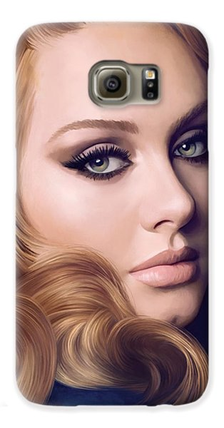 Adele Artwork  Galaxy S6 Case by Sheraz A