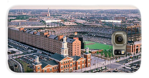 Oriole Galaxy S6 Case - Aerial View Of A Baseball Field by Panoramic Images