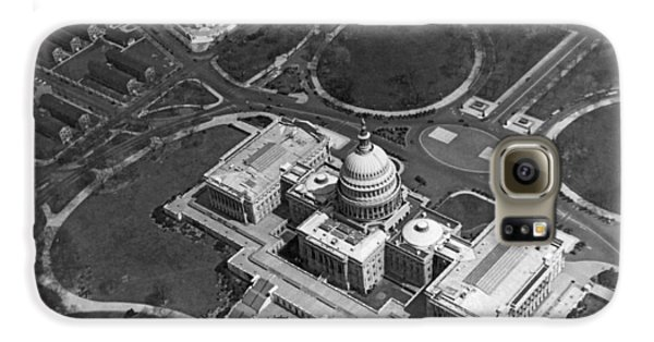 Aerial View Of U.s. Capitol Galaxy S6 Case by Underwood Archives
