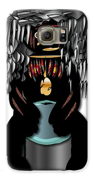 African Drummer 2 Galaxy S6 Case by Marvin Blaine