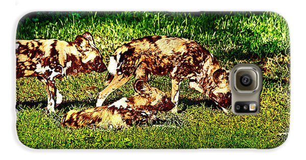 African Wild Dog Family Galaxy S6 Case by Miroslava Jurcik