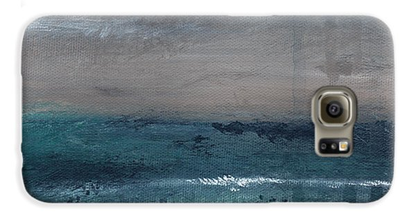 Largemouth Bass Galaxy S6 Case - After The Storm- Abstract Beach Landscape by Linda Woods