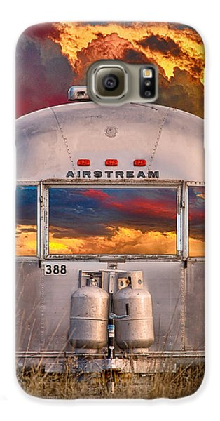 Airstream Travel Trailer Camping Sunset Window View Galaxy S6 Case by James BO  Insogna