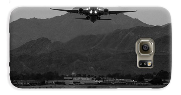 Airplane Galaxy S6 Case - Alaska Airlines Palm Springs Takeoff by John Daly