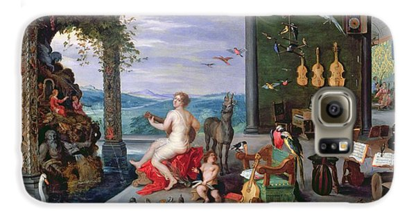 Trombone Galaxy S6 Case - Allegory Of Music Oil On Canvas by Jan the Elder Brueghel